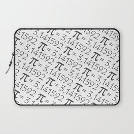 The Pi symbol mathematical constant irrational number, greek letter, pattern background center Laptop Sleeve