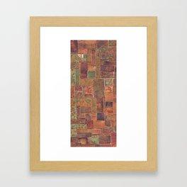 Red Patina Patchwork Framed Art Print
