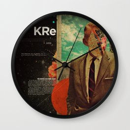 Exhaling My Thoughts Wall Clock