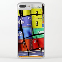 Colorful container wall board Clear iPhone Case