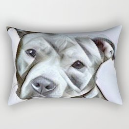 Pit Bull lover, a portrait of a beautiful pit bull puppy Rectangular Pillow