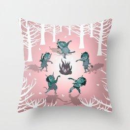 Little Monster Mashers Throw Pillow