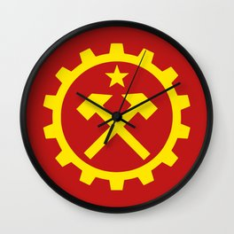 Communist Hammer  & Cog Flag Wall Clock