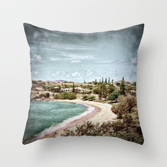 Living by the ocean Throw Pillow