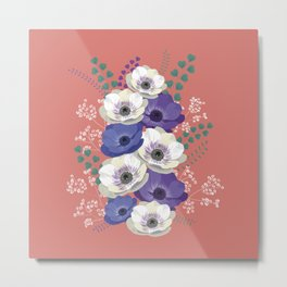 Anemones collection: bouquet II Metal Print