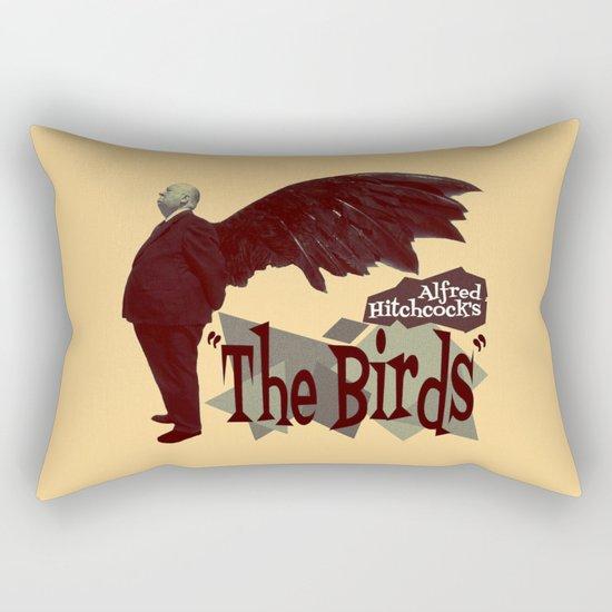 Alfred Hitchcock     The Birds Rectangular Pillow