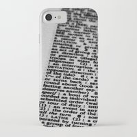 letters iPhone & iPod Cases featuring letters by dearforlorn
