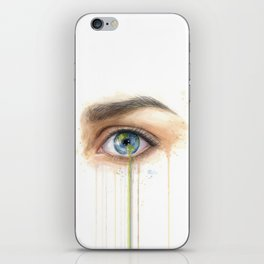 Crying Earth Eye iPhone Skin