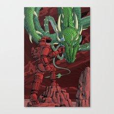 The Dragon on Mars Canvas Print