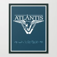 stargate Canvas Prints featuring Stargate Atlantis by Winter Graphics