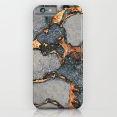 GREY & GOLD GEMSTONE Slim Case iPhone 6
