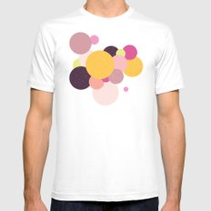 Balloons//Two Mens Fitted Tee SMALL White