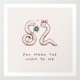 Worm Love Art Print