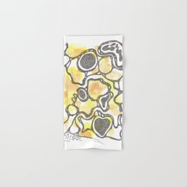 Scandi Micron Art Design | 170714 Abstract Watercolour Play 2 Hand & Bath Towel
