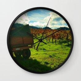 Napa Wagon Wall Clock