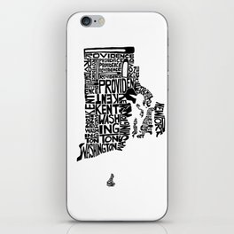 Typographic Rhode Island iPhone Skin