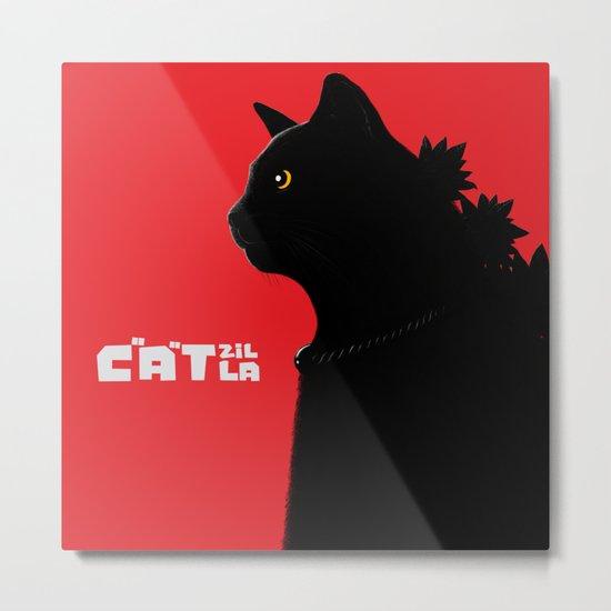 Catzilla Metal Print
