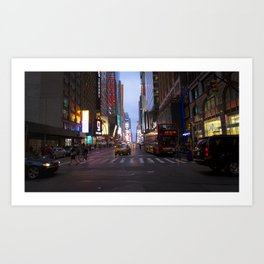 Purple Streets Art Print