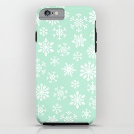 minty snow flakes iPhone Case