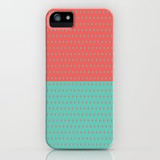Pebbles 1 Salmon-Aqua iPhone (5, 5s) Slim Case