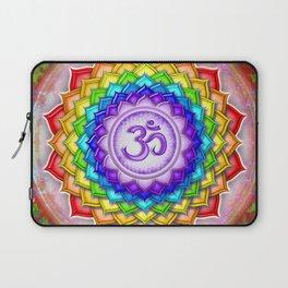 Sahasrara Chakra - Crown Chakra Rainbow Lotus - Series V Laptop Sleeve