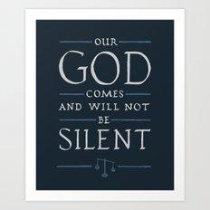 Psalm 50 Art Print