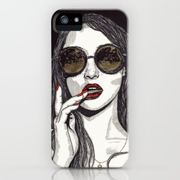Rose Gold Galsses iPhone Case