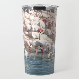 Flamingoes Travel Mug