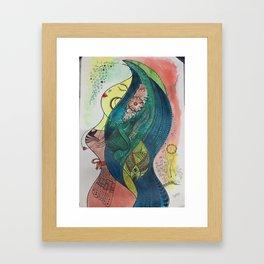 Colorul Mermaid Framed Art Print