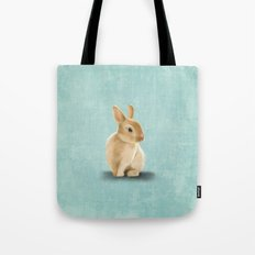 Portrait of a little bunny Tote Bag