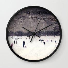 A Twilight Skate Wall Clock