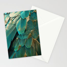Feather Glitter Stationery Cards