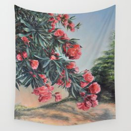 Oleander in the yard Wall Tapestry
