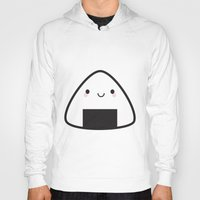 nori Hoodies featuring Kawaii Onigiri Rice Ball by Marceline Smith