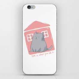 Home is where your cat is iPhone Skin