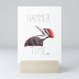 Hammer Time (Pileated Woodpecker) Mini Art Print