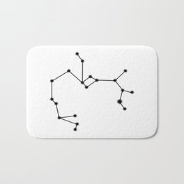 Sagittarius Astral Star Sign Minimal Bath Mat