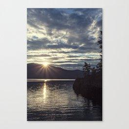 idaho lake sunset Canvas Print