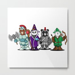The Four Funny Bears With Costume Metal Print