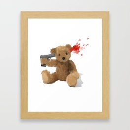 Suicide Teddy Framed Art Print