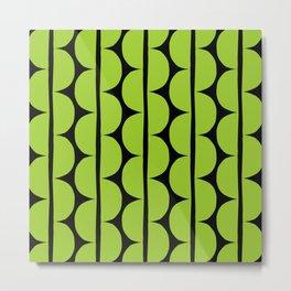 Funky Mid Century Modern Stripes 123 Metal Print