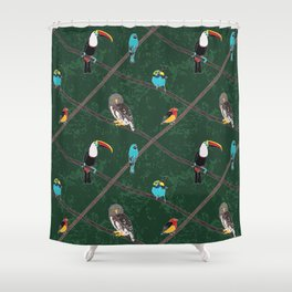Crossed Branches Shower Curtain