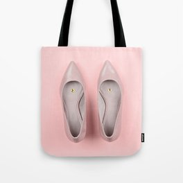 Pair of classic women's beige shoes with pushpin Tote Bag