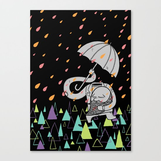 Running From The Rain Canvas Print