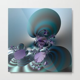 Purple leaves on radar of tranquility Metal Print