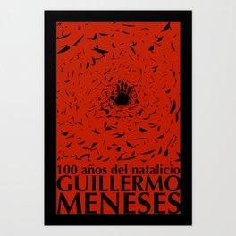 100 años natalicio de Guillermo Menese Art Print