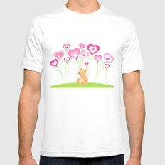 Bouquet of hearts Mens Fitted Tee White MEDIUM