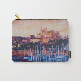 Spain Balearic Island Palma de Majorca with Harbour and Cathedral Carry-All Pouch