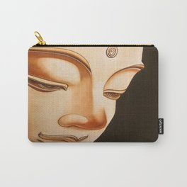 Tranquil oil painting of a peaceful Buddha  Carry-All Pouch
