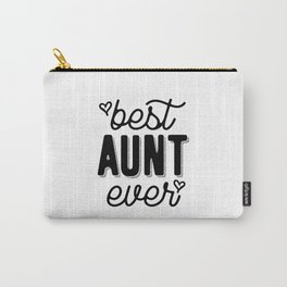 Womens Best Aunt Ever Heart Auntie Mother's Day Gift Carry-All Pouch